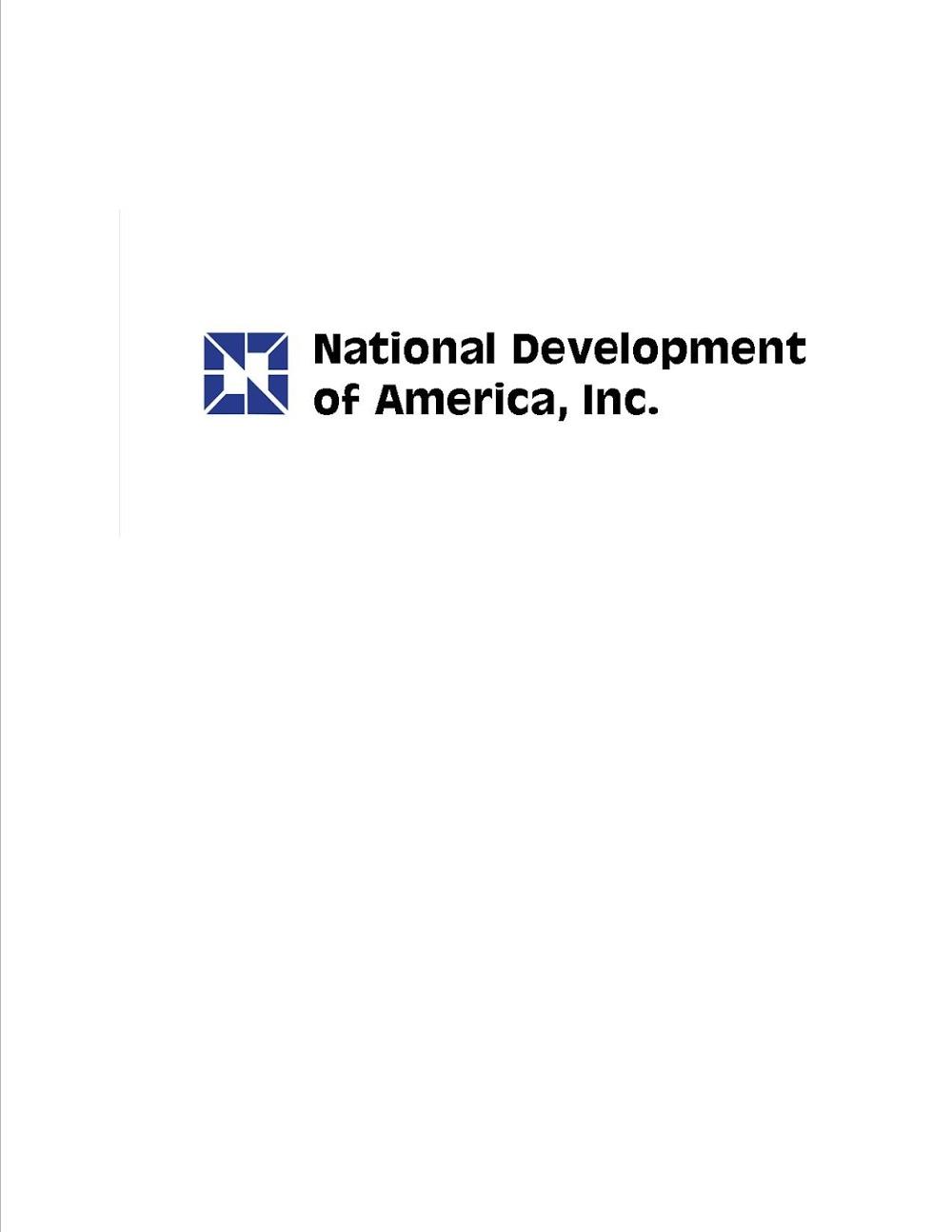 National Development of America, Inc.